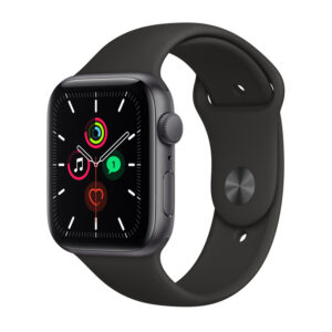Apple Watch SE GPS 44mm Space Grey Aluminium Case with Sport Black Band